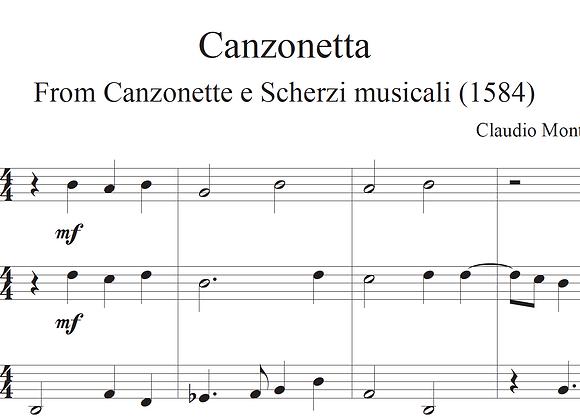Canzonetta, from Canzonette e Scherzi musicali by Monteverdi