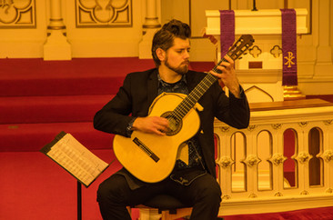 Performing at Capitol Hill Lutheran Church