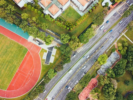 Straße Blick von oben