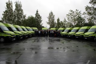 13+15 minibusser levert til Oslo Taxibuss