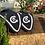 Thumbnail: Blå ørehetten med glitter model Long Tie down