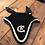 Thumbnail: Sort ørehetten med glitter model Long Tie down