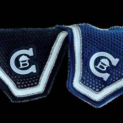 Blå ørehetten med glitter modelSquard