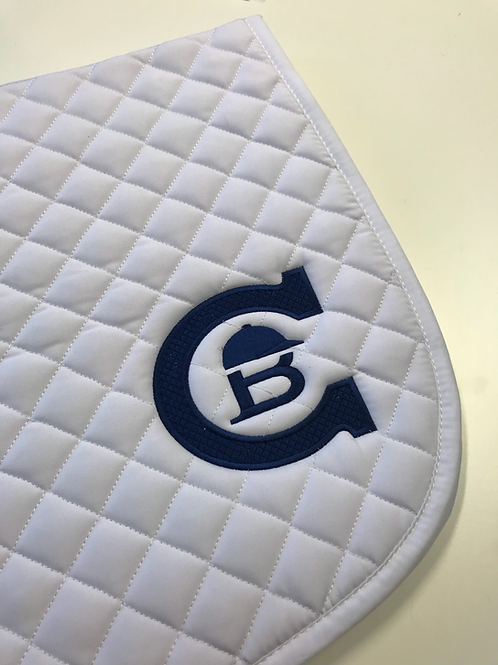 Shabrak hvit m/blå logo