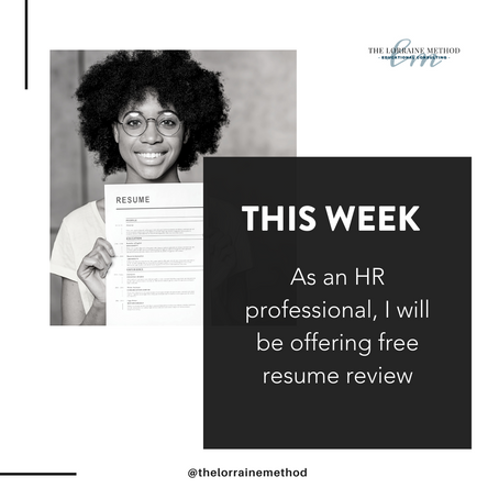This Week: Free Resume Review