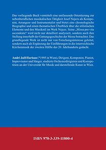 Andri Joël Harison: Josef Nejez - Sein Leben und sein Werk | Book Back Cover