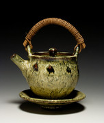 Small Teapot, Tenmoku and Rice Hull Ash Glaze