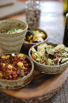 Side dishes and Cone Cup - Ash GLaze.jpg