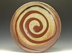 Platter with laddled Nuka Glaze