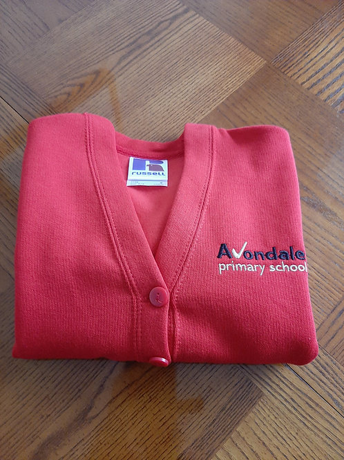 Avondale Cardigan in red or royal blue