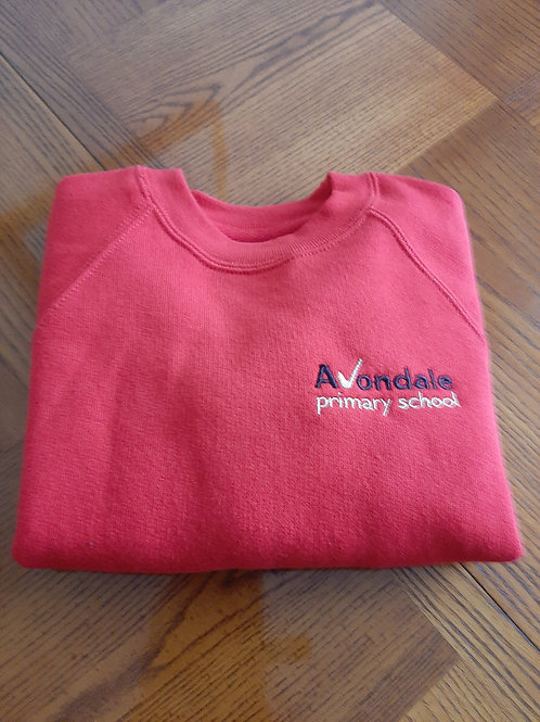 Avondale Sweatshirt in red or royal blue
