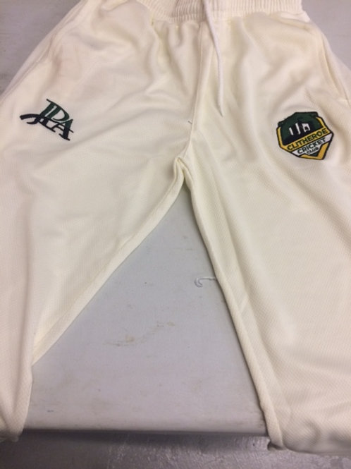 Clitheroe Cricket Club playing pants