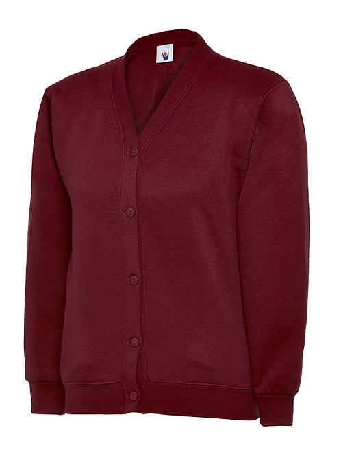 Chatburn Burgundy Cardigan for Year 6