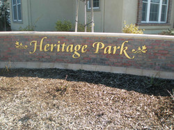 Heritage Park Brass Letters