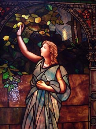 Picking Fruit Unknown Artist Restoration Circa 1908