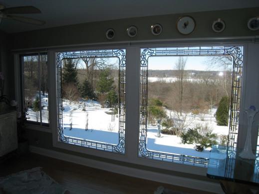 Beveled Border Window Treatment
