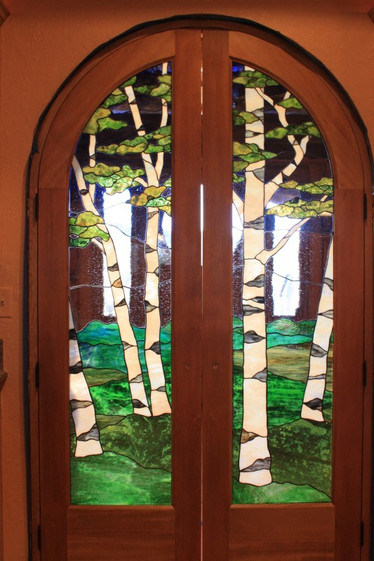 Birch Tree Panels On Interior Doors