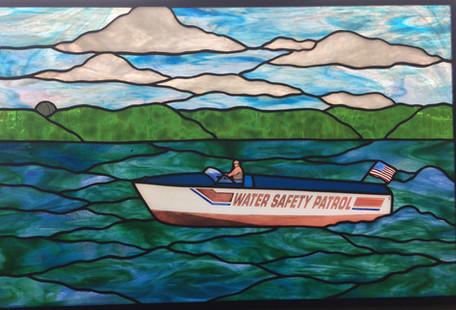 Water Safety Patrol Boat On Lake Geneva