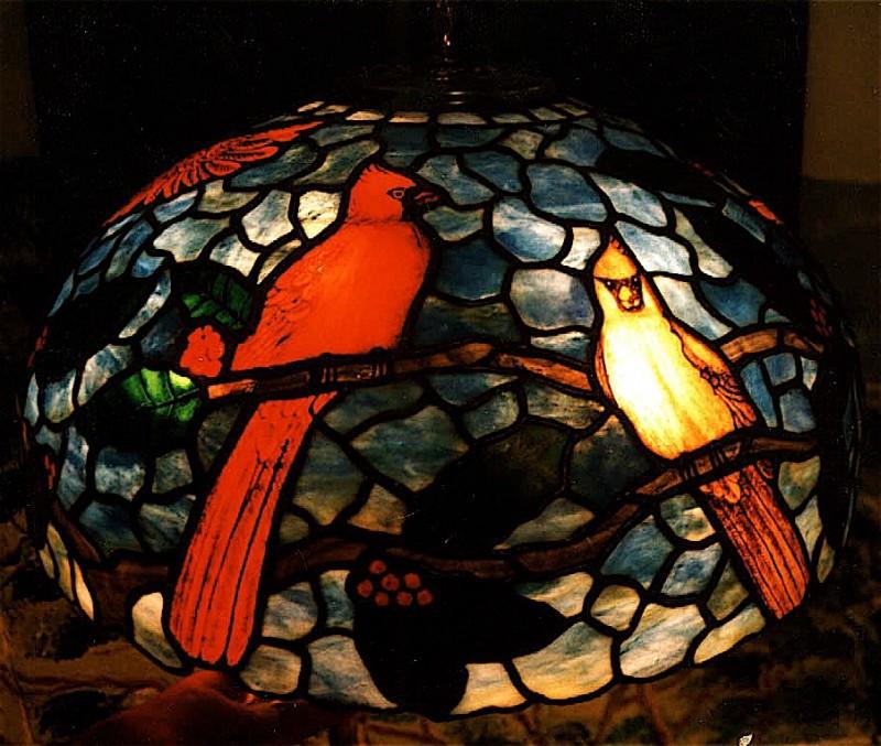 Cardinal Custom Lampshade
