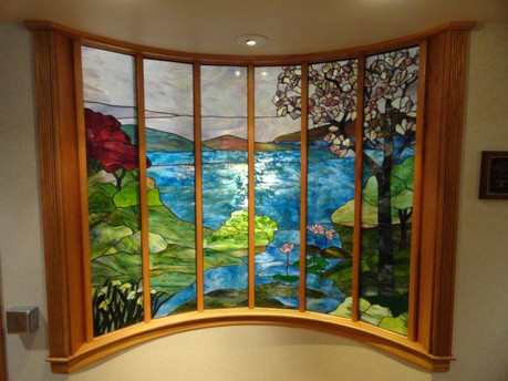 Magnolia Tree Landscape Chapel Window