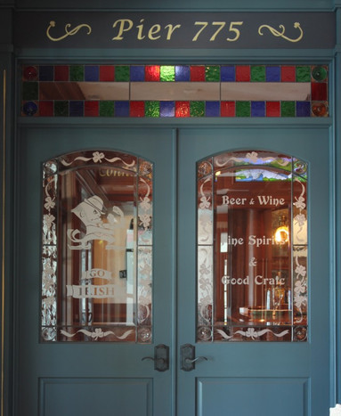 Residential Etched Pub Entry Way Doors