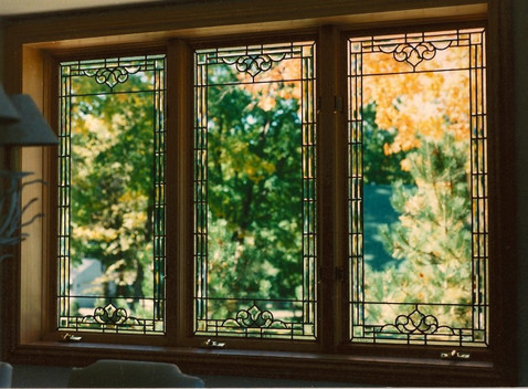 Window Treatment Panels With Beveled Glass