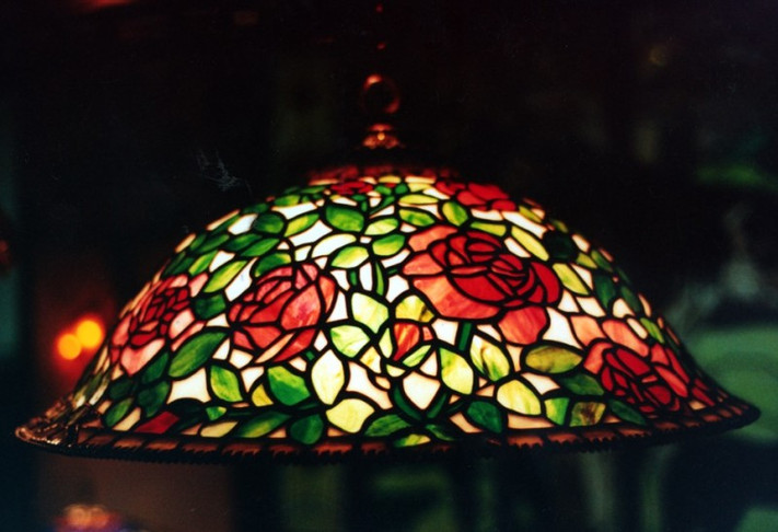 Rose Bush Tiffany Reproduction