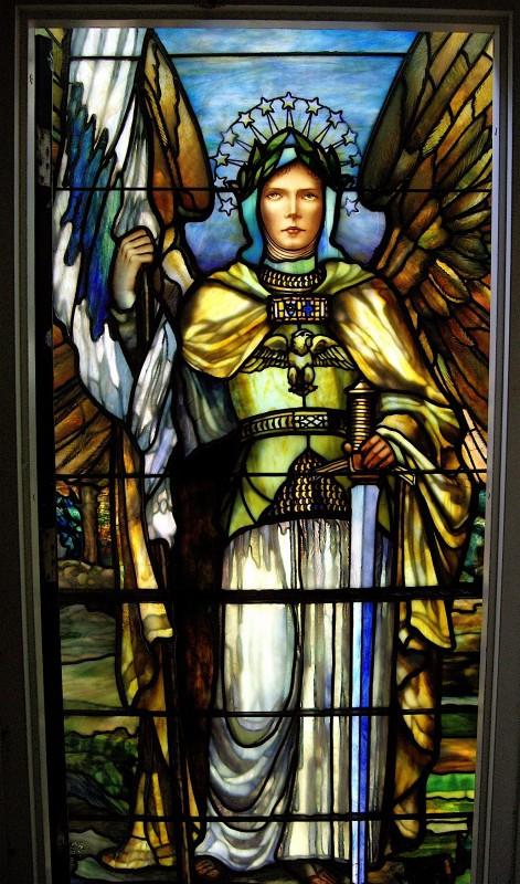 Authentic Tiffany Arch Angel Restoration Circa 1904