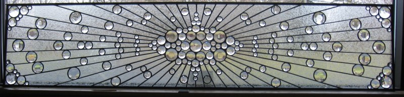 Faceted Jewel Window With A Clear Textured Background