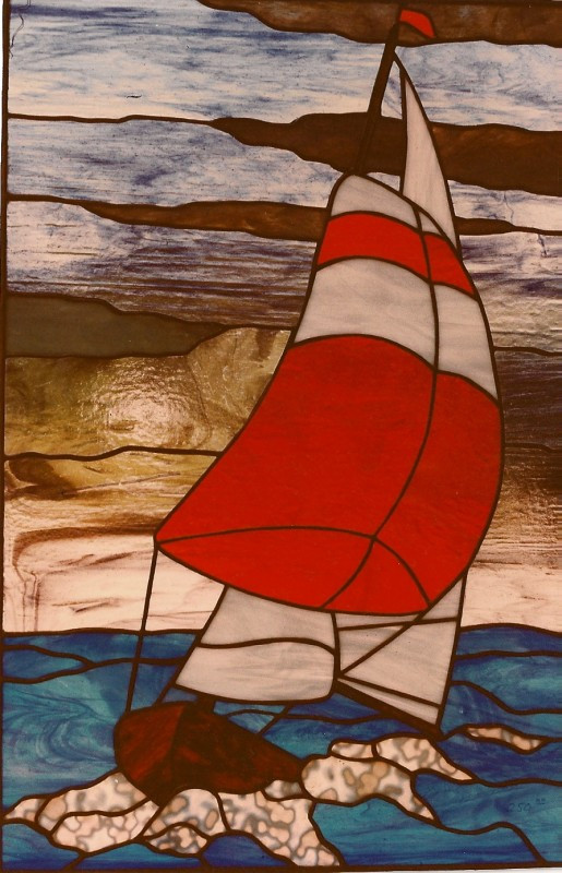 Sailboat In Storm Window
