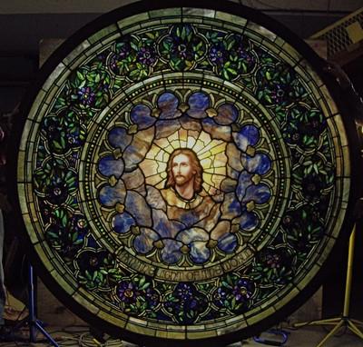 Authentic Tiffany Jesus Restoration Circa 1907