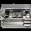 Barmat in acciaio inox per Omega 15, 150 cm, resistente e leggero da inserire sul piano di servizio