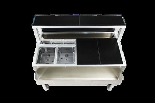 Kit barmat in gomma per Bar mobile Omega 12, lavabili in lavastoviglie e riutilizzabili, leggeri e resistenti
