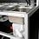 Lavandino, rubinetto e kit per il pompaggio dell'acqua per l'indipendenza della postazione barman