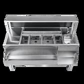 Bancone par portatile e trasportabile in acciaio inox