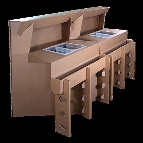 Postazioni Cocktail modulabili e trasportabili in cartone usa e getta