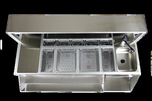 Piani forati per vasche in policarbonato o in acciaio inox per separare il ghiaccio e l'acqua