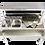 Barmat in acciaio inox per Omega 12, 120 cm, leggero e ultraresistente per il piano di servizio