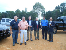 EDA, County, and City officials at the Ground Breaking event.