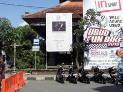 Concert Banner near Palace Ubud Bali