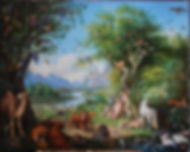 Петер Венцель_ Адам и Ева в земном раю_