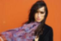 foulard soie PLANTA marque LASCLOE