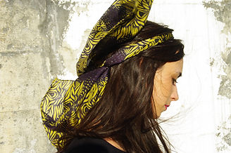 foulard soie ALAS marque LASCLOE