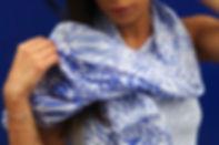 foulard coton soie AZULI marque LASCLOE