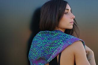 foulard soie LUCIOLA marque LASCLOE