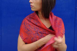 foulard soie MASCARA marque LASCLOE