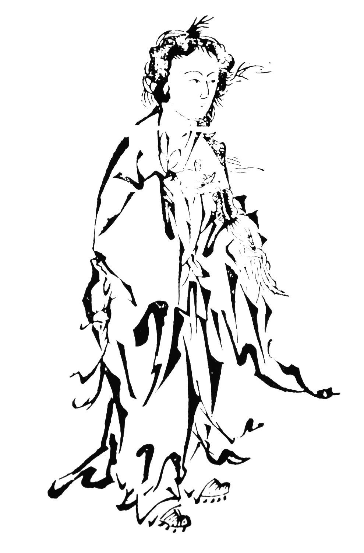 Sun Buer. Kuva alunperin teoksesta Daoyuan yiqi jing. (Women in Daoism, 2003.)