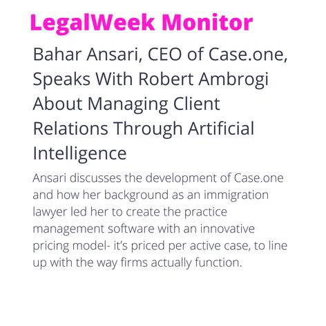 LegalWeek Monitor