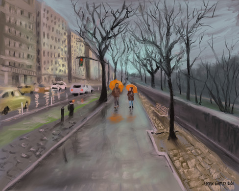 8th Avenue Stroll In The Rain