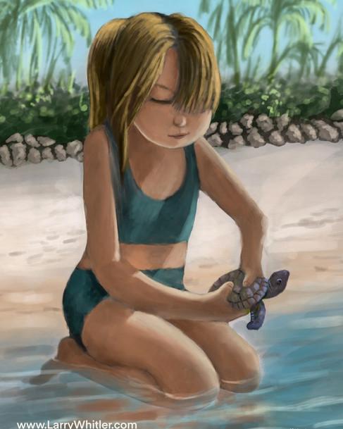Releasing Seaweed The Turtle